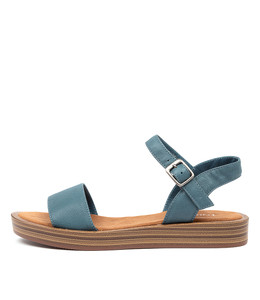 FEISTY Sandals in Murky Blue Leather