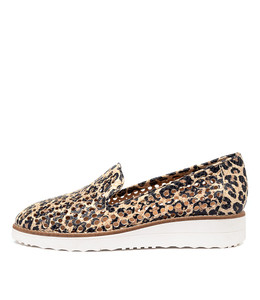 OSTA Flatforms in Ocelot Leather