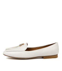 MARCELO Flats in White Leather
