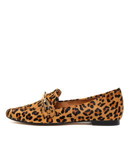 SHIRA Flats in Ocelot Pony Hair
