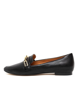 SHIRA Flats in Black Leather