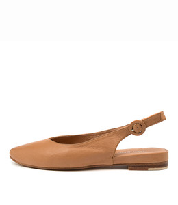 FAIRY Flats in Dark Tan Leather
