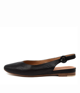 FAIRY Flats in Black Leather