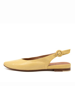 FAIRY Flats in Yellow Leather