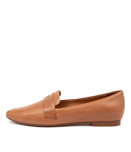 SUTTON Flats in Dark Tan Leather