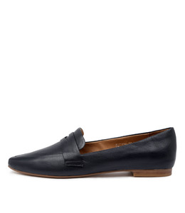 SUTTON Flats in Navy Leather