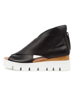 ROLANDY Flatforms in Black Leather