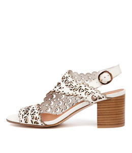 RODRIGO Heeled Sandals in White Leather