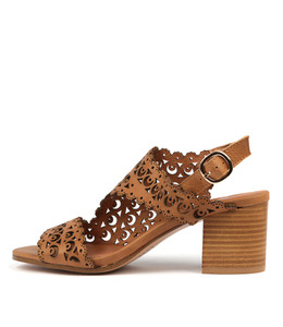 RODRIGO Heeled Sandals in Tan Leather