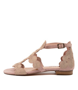PRINCED Sandals in Rose Suede