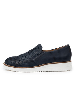 OSCAT Flatforms in Navy Leather
