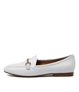 MENA Flats in White Leather