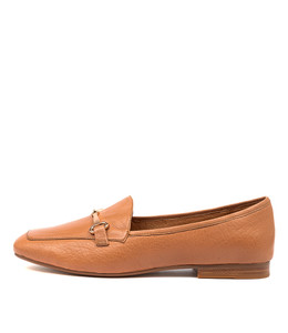 MENA Flats in Dark Tan Leather