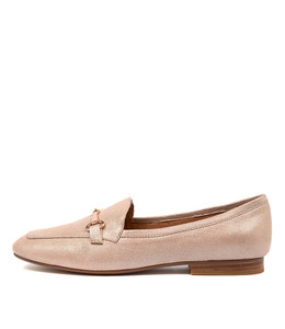 MENA Flats in Nude Shine Leather