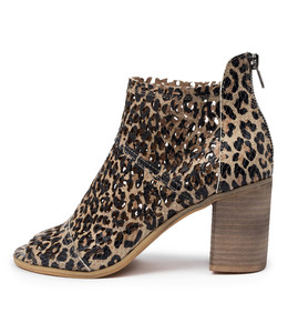 WITCHY Heeled Sandals in Ocelot Leather