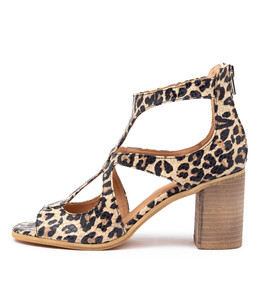 WINFOLM Heeled Sandals in Ocelot Leather