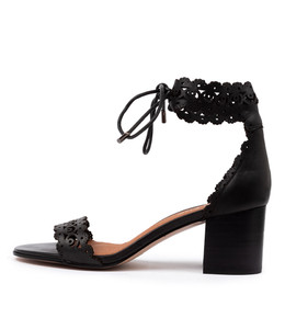 ROCHELLE Heeled Sandals in Black Leather