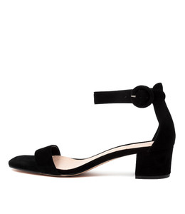 DRYNON Heeled Sandals in Black Suede