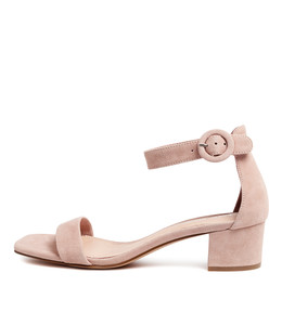 DRYNON Heeled Sandals in Rose Suede
