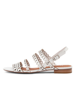 PRIVATE Sandals in White Leather