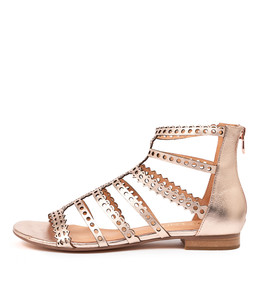 PRAIRIE Sandals in Rose Gold Leather