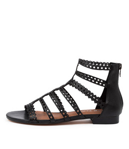 PRAIRIE Sandals in Black Leather