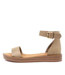 FERD Sandals in Khaki Leather