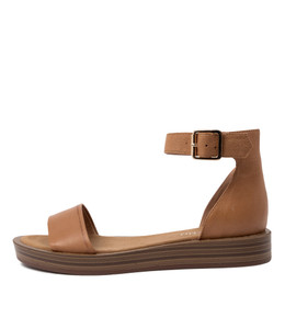 FERD Sandals in Dark Tan Leather
