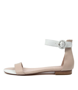 POISON Sandals in Nude/ White Leather