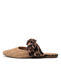 PEDRO Flats in Ocelot/ Natural Raffia