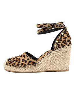 MIKKEL Espadrille Wedges in Ocelot Pony Hair