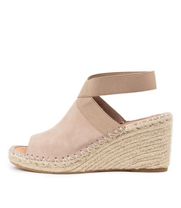 GONE Espadrille Wedges in Taupe Suede