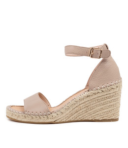 GUGU Espadrille Sandals in Rose Leather