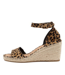 GUGU Espadrille Sandals in Ocelot Pony Hair