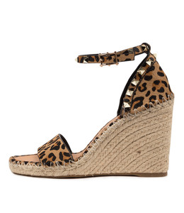 EDWINA Espadrille Sandals in Ocelot Pony Hair