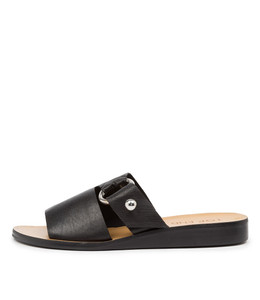 REGAN Sandals in Black Leather