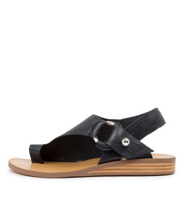 RENEE Sandals in Navy Leather