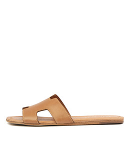 LEAMON Sandals in Tan Leather