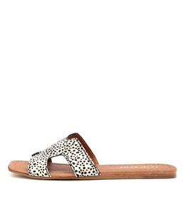 LEAMON Sandals in Black/White Pony Hair