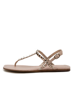 LEAFY Sandals in Rose Leather