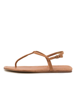 LEERAN Sandals in Tan Leather