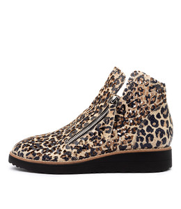 ORANTA Ankle Boots in Ocelot Leather