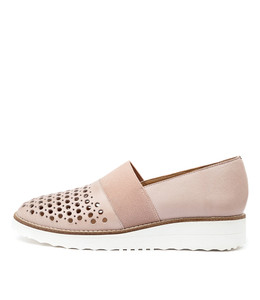 ONTO Flatforms in Rose Leather