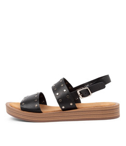 FROILS Sandals in Black Leather