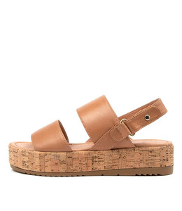 ALECKS Sandals in Dark Tan Leather