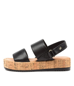ALECKS Sandals in Black Leather