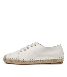 TOLINA Flats in White Leather