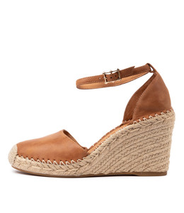MADDEN Espadrille Wedges in Tan Leather
