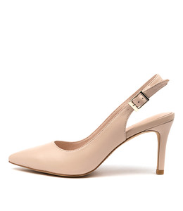BECKIE High Heels in Nude Leather