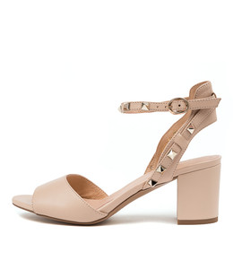 GERRI Heeled Sandals in Nude Leather